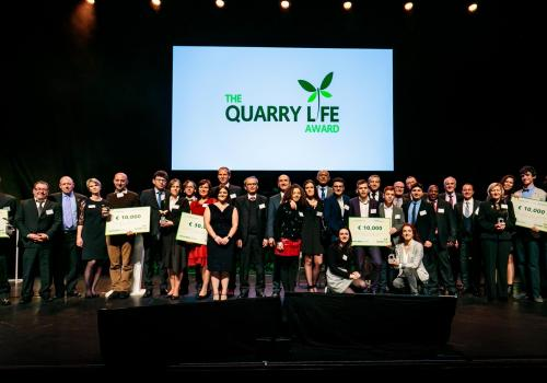 qla international ceremony 2018, picture of winners on stage