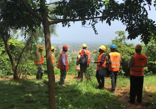 Participants of the 4th edition visit the site in Tanzania for the first time